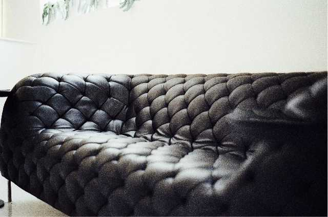 black couch furniture