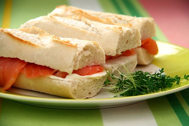Salmon Cream Cheese Sandwiches